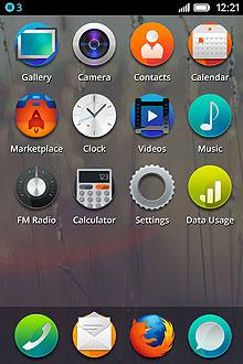 Pantalla de aplicaciones FirefoxOS