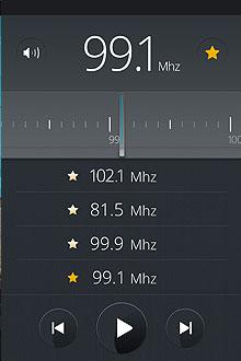 Pantalla de Radio FM FirefoxOS
