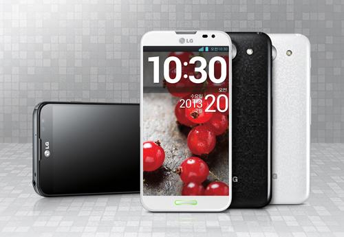 Phablet LG Optimus G Pro. Cortesía de LG Electronics.