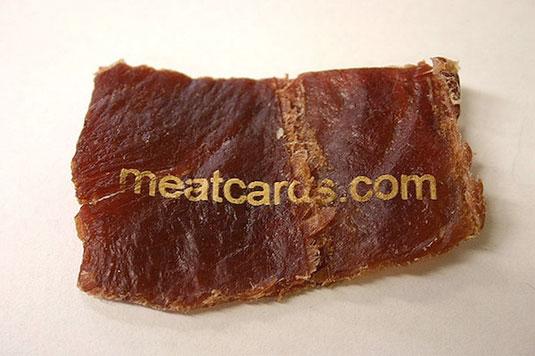 tarjeta de visita de carne