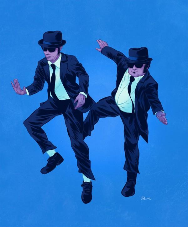 pop-culture-buddies-dave-collison-blues-brothers-600x727