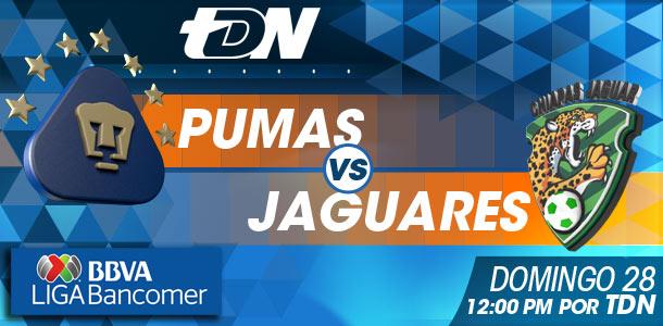 Pumas vs Jaguares en vivo