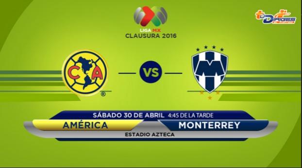 América vs Monterrey en vivo