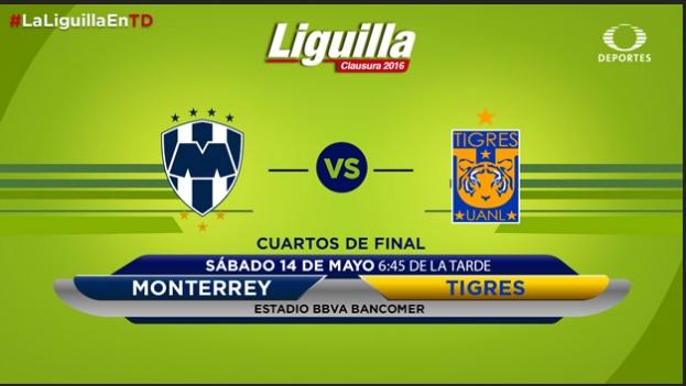 Monterrey vs Tigres en vivo