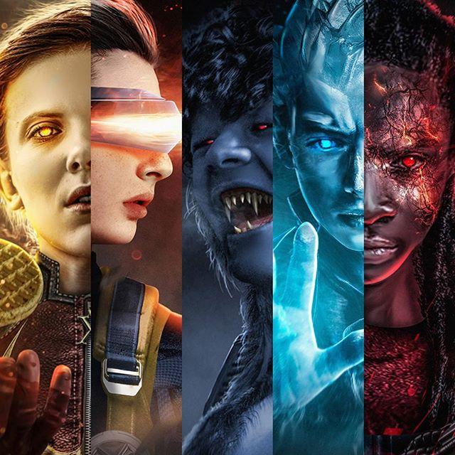 Los personajes de Stranger Things como X-Men: Fan Art